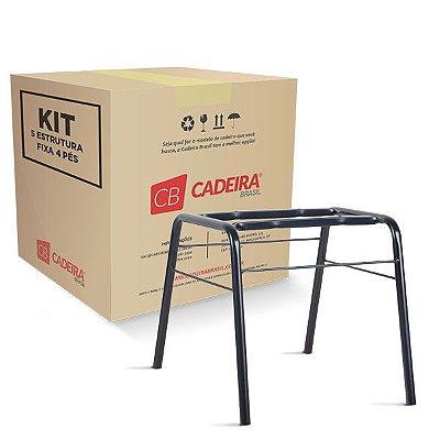 Kit com 5 Estrutura Fixa 4 Pés Diretor ES002K Cadeira Brasil