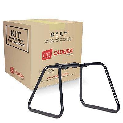 Kit com 5 Estrutura Fixa Tratézio Diretor ES003K Cadeira Brasil