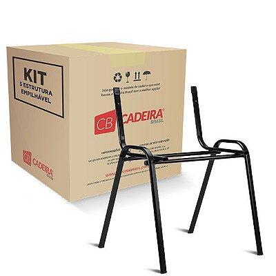 Kit com 5 Estrutura Empilhável para Iso, New Iso, Atuali e Tuli ES006K Cadeira Brasil