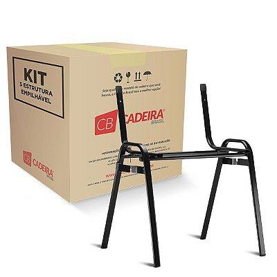 Kit com 5 Estrutura EmpilháveL para Iso, New Iso, Atuali e Tuli com conector ES007K Cadeira Brasil