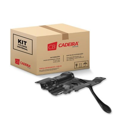 Kit com 5 Flange Universal SF002K Preto Cadeira Brasil