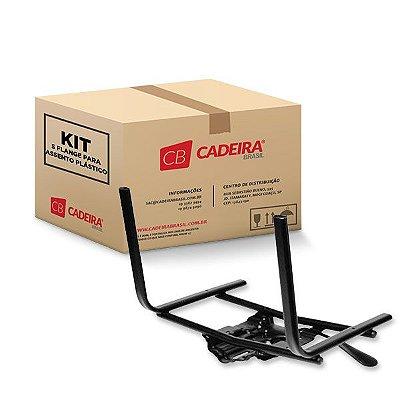 Kit com 5 Flange para Assentos Plásticos Pratic, Sigma e Prisma SF003 Preto Cadeira Brasil
