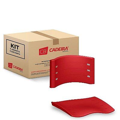 Kit com 5 Assento e Encosto NEW ISO Original NIS002K Cadeira Brasil