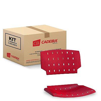 Kit com 5 Assento e Encosto PRATIC PKA001K Cadeira Brasil