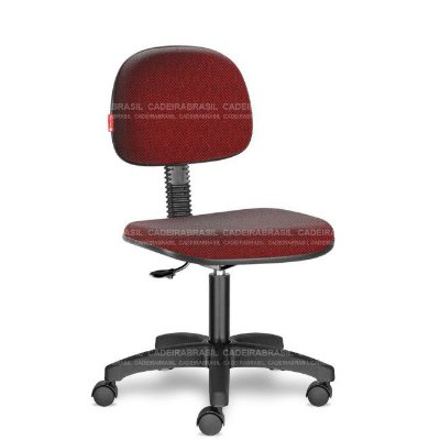 Cadeira de Escritório Giratória Vermelho Mesclado RVS06 Tecido Saldão