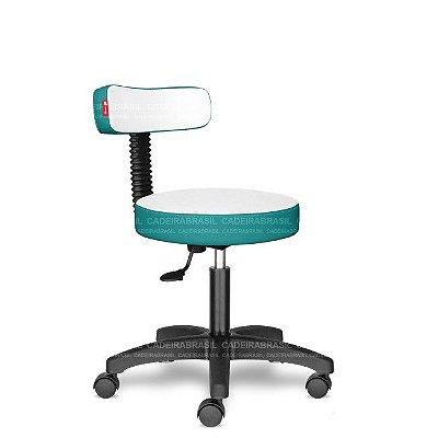 Mocho Estética Fisioterapia Odontologia Turquesa Mesclado CB1640 Sintético Saldão