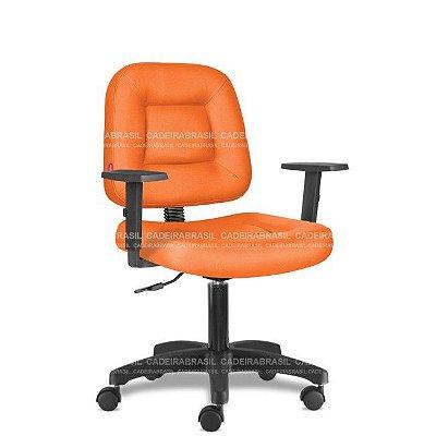 Cadeira de Escritório Giratória Laranja com Braços CB 1420 Sintético Saldão