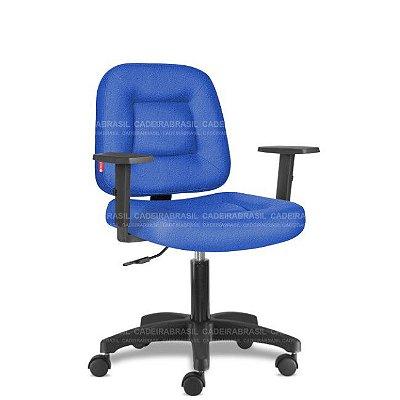 Cadeira de Escritório Giratória Azul Royal com Braços CB 1463 Tecido Saldão