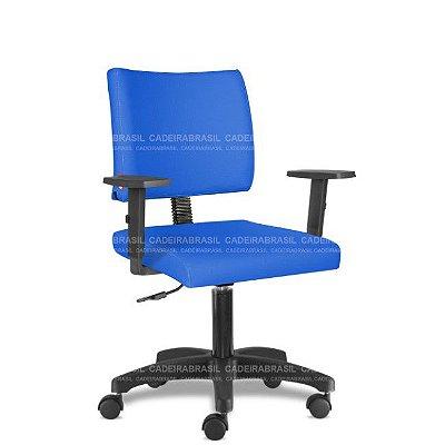 Cadeira Escritório Giratória Azul Royal com Braços CB3027FL Sintético Saldão