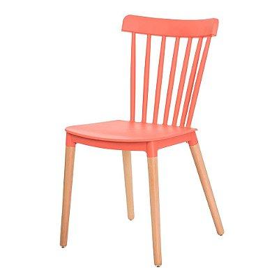 Cadeira Fixa Design Supera Polipropileno Pés Madeira Cadeira Brasil