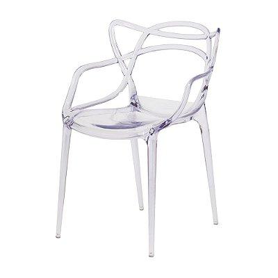 Cadeira Fixa Design Arc Policarbonato Cadeira Brasil