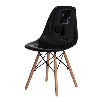 Cadeira Fixa Design Amaze ABS Pés Madeira Cadeira Brasil
