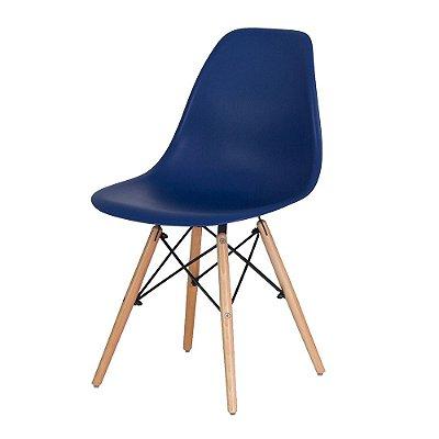 Cadeira Fixa Design Amaze II Polipropileno Pés Madeira Cadeira Brasil