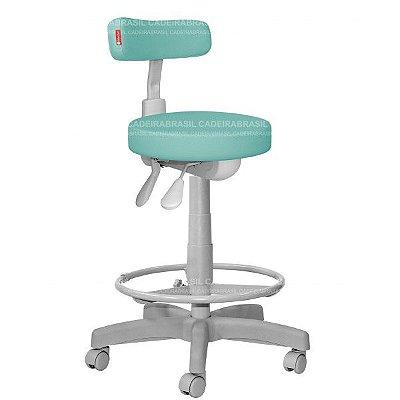 Cadeira Mocho Alto Estética, Fisioterapia, Odontologia Slim Premium Ergonômico Cadeira Brasil CB 1543