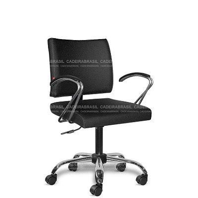 Cadeira Escritório Executiva Ideale CB 3031 Braços Curvos Cadeira Brasil