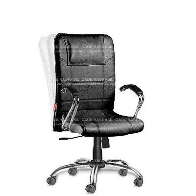 Cadeira Escritório Presidente Giratória com Braços Frari FAP52
