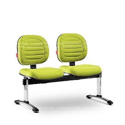 Longarina 2 Lugares Executiva Lacerta LCE63 Cadeira Brasil