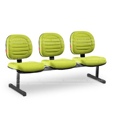 Longarina 3 Lugares Executiva Lacerta LCE14 Cadeira Brasil