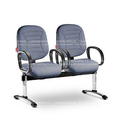 Longarina 2 Lugares Diretor Firenze FRD60 Cadeira Brasil