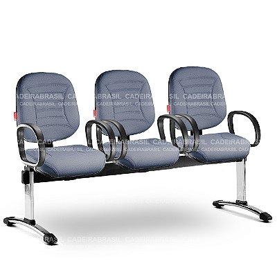 Longarina 3 Lugares Diretor Firenze FRD61 Cadeira Brasil