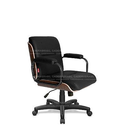 Cadeira Diretor Giratória Wooden WDD01 Cadeira Brasil
