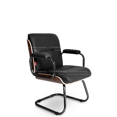 Cadeira Fixa Diretor Wooden WDD03 Cadeira Brasil