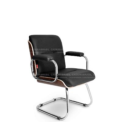 Cadeira Fixa Diretor Wooden WDD53 Cadeira Brasil
