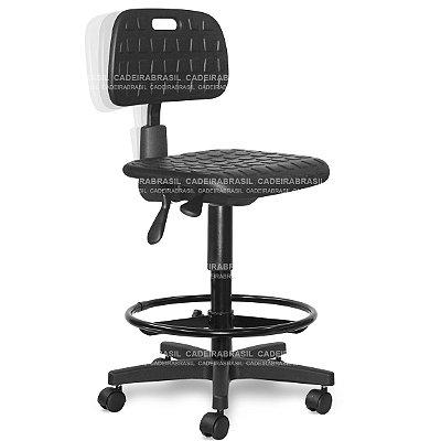 Cadeira Caixa Alta Industrial Ergonômica Secretária em Poliuretano INS03 Cadeira Brasil