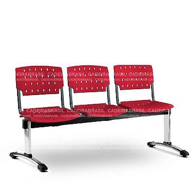 Longarina 3 Lugares Executiva Pratic PKE64 Cadeira Brasil