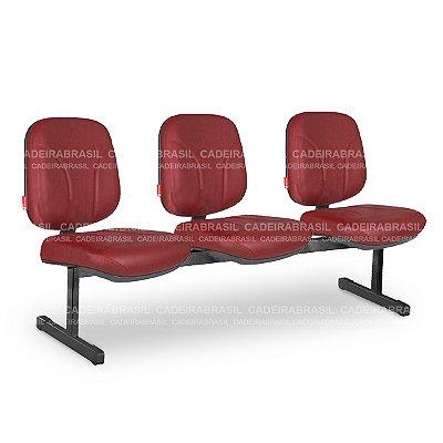 Longarina 3 Lugares Diretor Operativa OPD09 Cadeira Brasil
