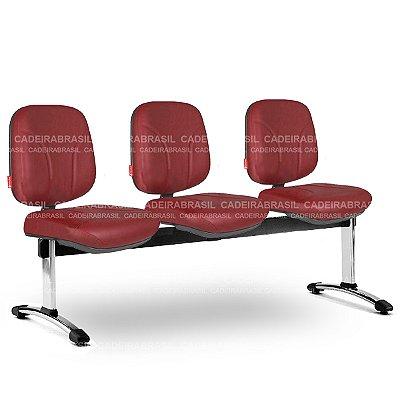 Longarina 3 Lugares Diretor Operativa OPD59 Cadeira Brasil