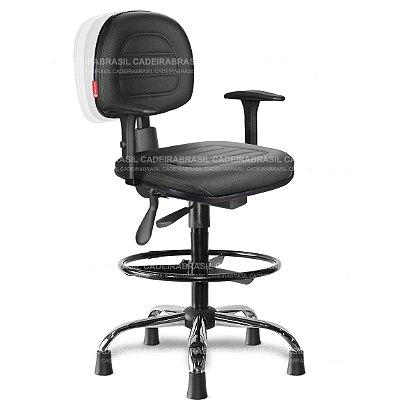 Cadeira Caixa Ergonômica Secretária Parma PRS53 Cadeira Brasil
