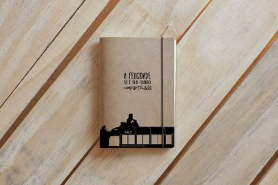 CADERNO ARTESANAL DE BOLSO A6 CINEMA -  INTO THE WILD