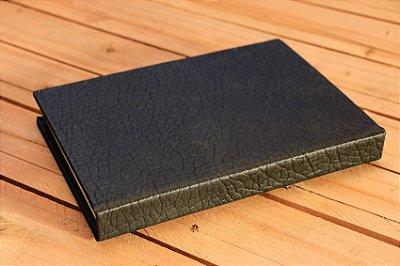 Caderno capa dura preto Bodoque