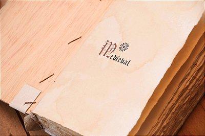 Encadernação Medieval A5 séc XIII - Capa em madeira Bodoque