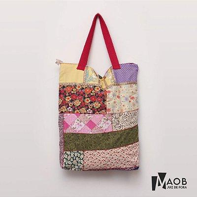 Bolsa artesanal Retalhos - MAOB