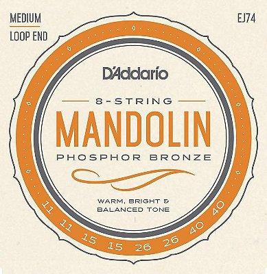 Cordas Para Mandolin/Bandolim D'addario Ej74