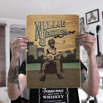 "Pôster ""Willie James"""