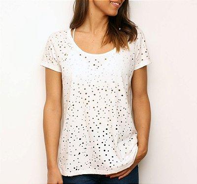 Camiseta Furos Branca