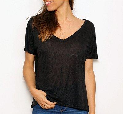 Camiseta Basic V Preta