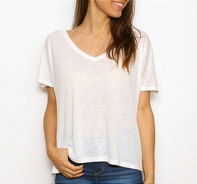 Camiseta Basic V Branca