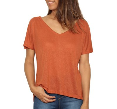 Camiseta Basic V Telha