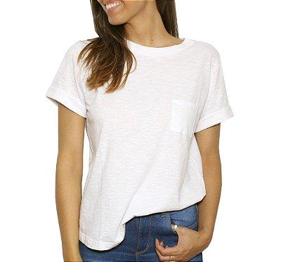 Camiseta Basic Bolso Branca