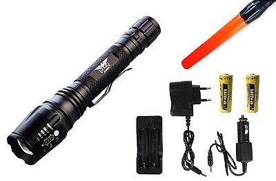 Lanterna Tática Police 2 Baterias Super Potente 8000mAh Jyx 8668B