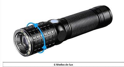 Lanterna Mão Multifuncional Bateria Energia Elétrica e Pilha Led Cree T6
