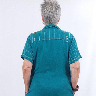 Vestido Plus Size Chemise de Tencel Jade