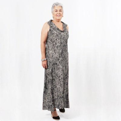 Vestido Plus Size de Viscose Rabisco