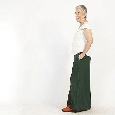 Saia-Calça Plus Size de Viscose Verde