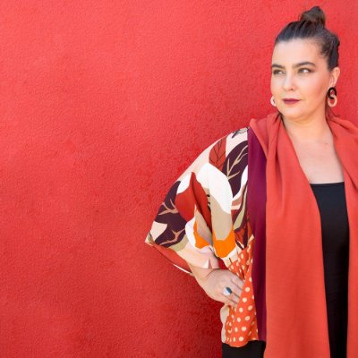 Kimono Dupla Face Mosaico Laranja