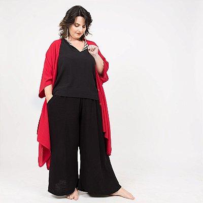 Vestido Kimono Vermelho